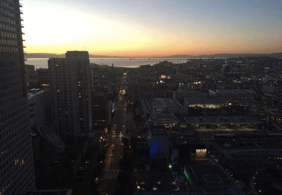 夕暮れのサンフランシスコ